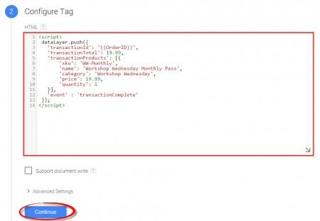 data layer google tag manager
