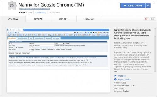 Digital Marketing This Week - Productivity - Nanny for Google Chrome