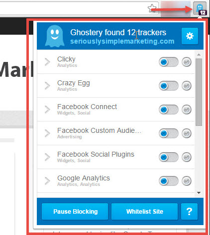 Ghostery on SSM